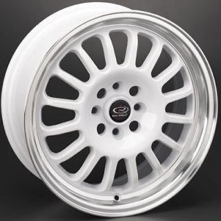 ROTA TRACK R 15X7 4X100 ET40 ROYAL WHITE RIMS WHEELS