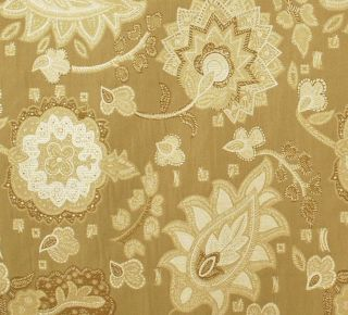 Discount Upholstery Fabric / Neutral Jacobean Floral Upholstery Fabric