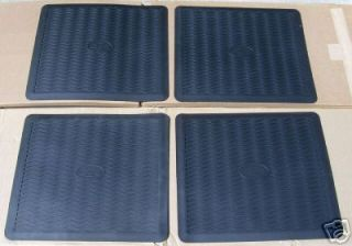 1955 1956 CHEVY BLACK FLOOR MATS NEW set of 4 (Fits: Nomad)