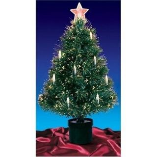 Fiber Optic Artificial Christmas Tree With Candles 4 With Multi