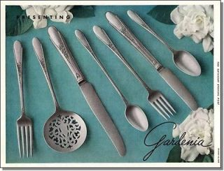 1936 WM. Rogers & Sons ~ Gardenia pattern silverware set print ad