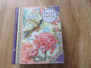 STUDIO HUMMINGBIRD BIRD NOTE PAPER   150 SHEETS WITH MAGNETIC CLOSURE