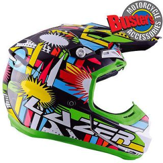 Lazer X7 Comet Motorcycle Full Face Helmet Motocross MX Enduro Quad
