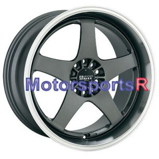 XXR 962 Gun Metal Deep Dish Lip ET +35 Wheels Rims Staggered 5x114.3