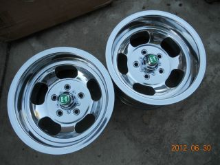 NEWLY POLISHED 14x8 INDY SLOT MAG WHEELS CHEVELLE SS MAGS CHEVY GASSER