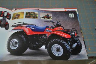 1988 suzuki quadrunner 4wd 4 Wheel ATV Sales Brochure