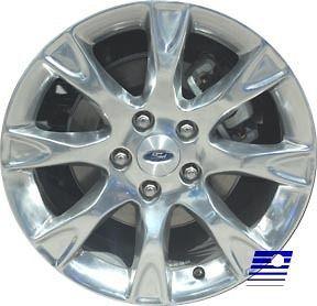 2011 Ford Fusion Factory OEM 8 Spoke 17 x 7.5 Polished Wheel Rim 3856