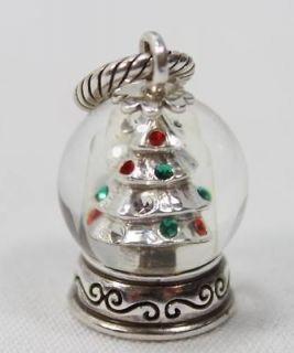 Authentic Brighton Snow Globe Christmas Tree Charm J95072 Retired NEW
