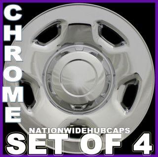 17 Chrome Wheel Skins 5Spoke Hub Caps Rim Covers Steel Wheels Lug