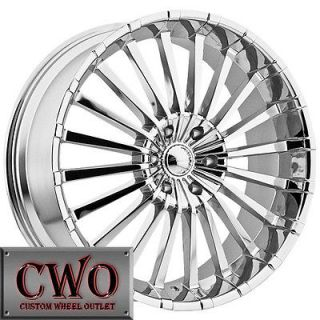 20 Chrome Panther Spline Wheels Rims 5x115 5 Lug Charger Challenger