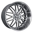 20 MRR GT1 Silver Rims Wheels Mustang Lexus IS250 GS300 GS400 G35 M45