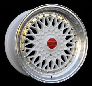 Newly listed WHITE 16x8 16 RS Style Wheels 4x100 ESM 002R AUDI