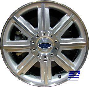 07 Ford 500 18 X 7 Factory OEM 8 Spoke Machined Silver Wheel Rim 3581