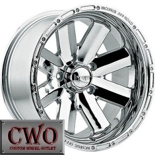 16 Chrome Incubus Recoil Wheels 8x165.1 8 Lug Chevy GMC 2500HD Dodge