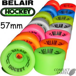 BELAIR Hockey Quad Rollerskate wheels x8 Choose Colour for Bauer