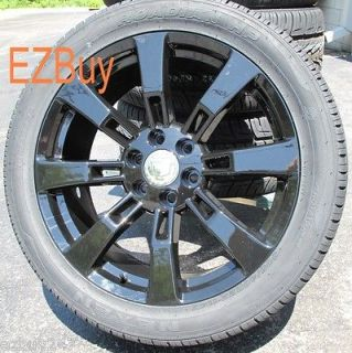 ESCALADE FACTORY STYLE BLACK WHEELS 5409 TIRES 285 45 22 NEXEN