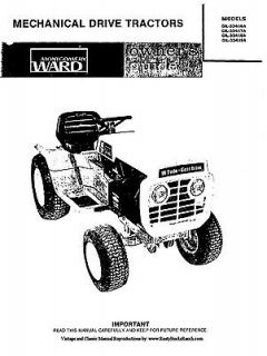 Montgomery WARDS Gilson Tractors Operator Manual Model GIL33416A thru