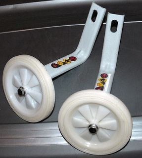 listed Bicycle Training Wheels For 16 Bikes   White & White Wheels