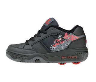 Heelys Kids/Junior Rider Heely Lace Wheel Shoes   Black/Red Size J12