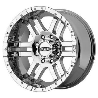 SET 17x9 MOTO METAL 951 CHROME Wheels Rims 8x6.5 Chevy Dodge GMC 2500