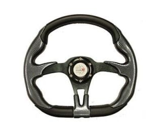 YAMAHA GOLF CART OFFROAD STEERING WHEEL (Blk/Blk) w/Adp