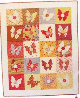 Butterfly Bliss  pretty applique & pieced quilt PATTERN