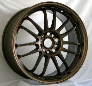 18X8.5 ROTA SVN WHEELS 5X114.3 RIMS ET48MM FITS RSX TSX TL ECLIPSE