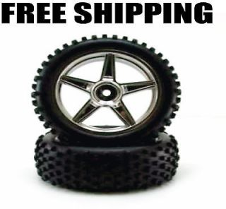 Redcat Racing Chrome Front Wheels & Tires #06010C RC Parts Cheap Free