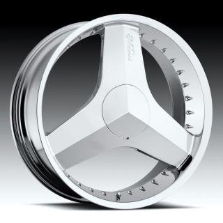 20 inch Milanni Blade Chrome Wheels Rims 5x115 +38