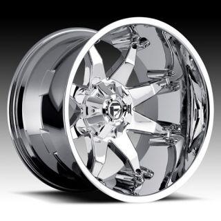 FUEL OCTANE 22x14 Chrome Wheels 8x6.5 Dodge/GM 3/4,1T QTY 4 WHEELS
