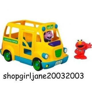 Playskool Sesame Street St School Bus with Elmo & Count Von Count