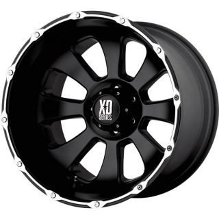20 BLACK WHEELS TIRES 8X165 HUMMER CHEVY DODGE NEW 285 50 20 XD