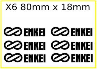 6X ENKEI LOGO WHEEL RIM STICKER/DECALS Choose ny colour