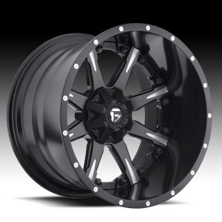OFFROAD Nutz 2 Piece Wheel SET Black & Milled 20x9.0 RIMS FORD CHEVY