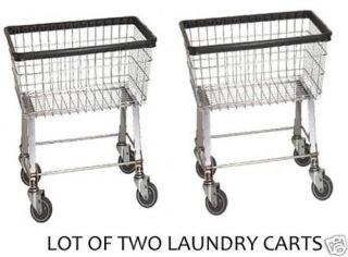 Economy Laundry Cart 2.5 Bushel with Wheels & Basket