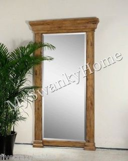 Extra Large Wall Mirror Classic Wood Columns Oversize Full Length