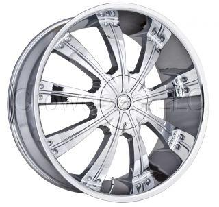 Legacy Truck SUV Wheel Rim LG506 Chrome 24 inch 5 Lug