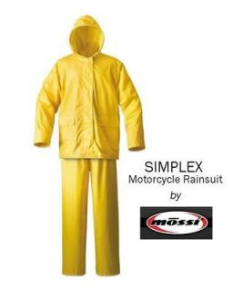 Newly listed Mossi Simplex Yellow Motorcycle Rain Suit   Size LARGE