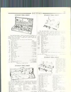1936 ad Stanley Tool Chests Levels