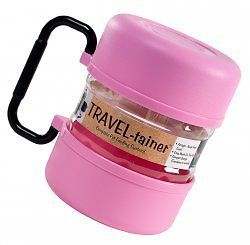 Vittles Travel Cat Dog Pet Food Storage Container Pink
