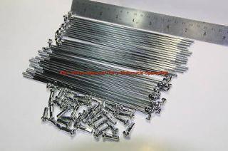 Motorcycle Wheel Spokes & Nipples 149mm length Chromed Steel Set of 40