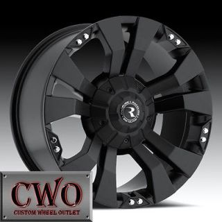 18 Black Raceline Rampage Wheels 8x165.1 8 Lug Chevy GMC 2500HD Dodge