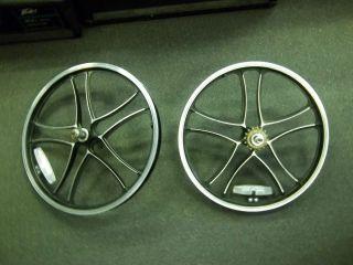 Pair BMX Freestyle Metal Mag Wheels Rims 2