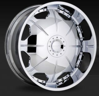 24 Strada Wheels Mirror Chrome Rims Tires Magnum Cutlass Chevelle