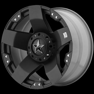 20 XD Rockstar Matte Black Rims with Nexen Roadian HP 285 50R20 Tires