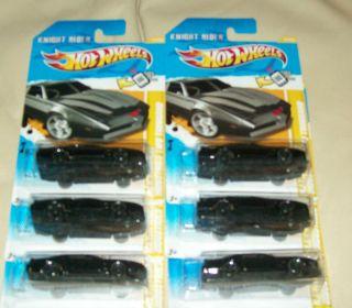 Lot of 6 2012 Hot Wheels New Models Knight Rider K I T T Car Worldwide