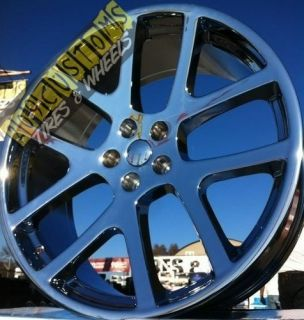 RIMS TIRES SRT 10 REPLICA WHEELS 5X115 STAGGERED DODGE CHARGER 2011