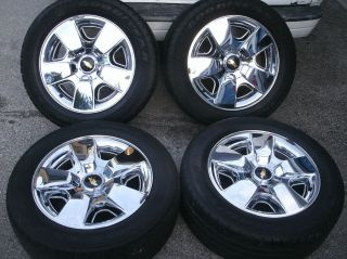 2011 Chevrolet Tahoe Silverado OEM 20 Wheels Chrome Avalanche Rims