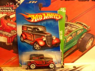 Hot Wheels 2009 Treasure Hunt 48 34 Ford Super Red Int