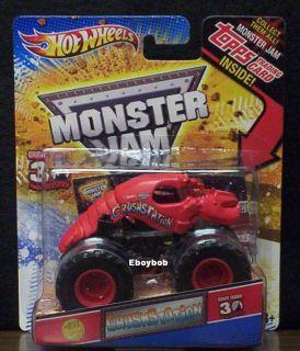 Crushstation 1st Edition Monster Jam W Topps Card 2012 Hot Wheels
